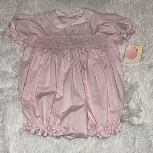 NWT Petit Ami Girls Size 3M Smocked Bubble Romper